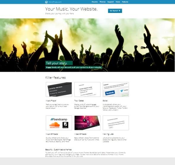 Wordpress Music