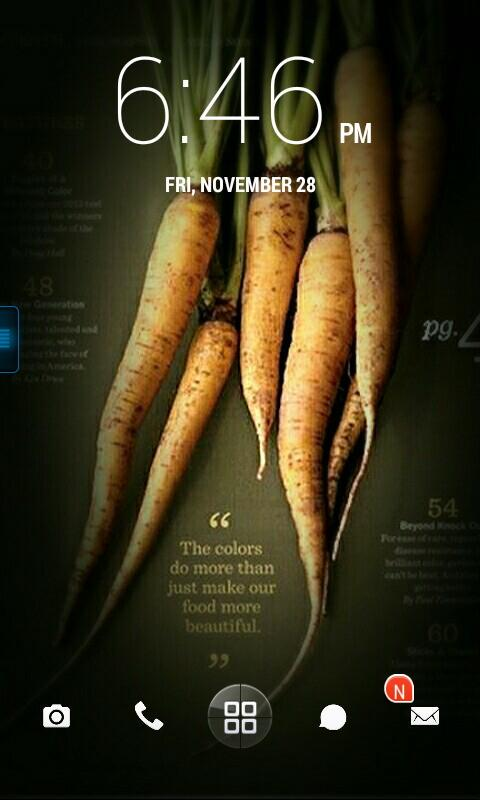 carrots homescreen