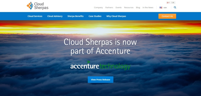 Cloud Sherpas Website